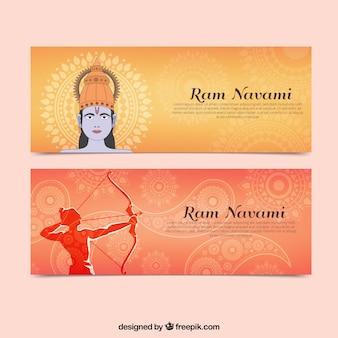 Ram Navami bandeiras abstratas