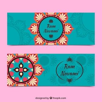 Ram Navami banners ornamentais