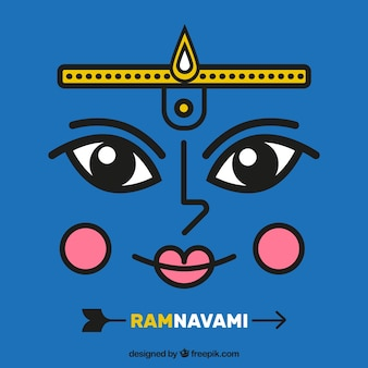 Ram Navami fundo azul