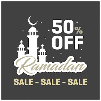 Ramadan 50 OFF Venda Banner