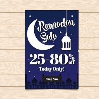 Ramadan sale flyer com design noturno