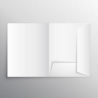 Realista pasta em branco mockup modelo de design