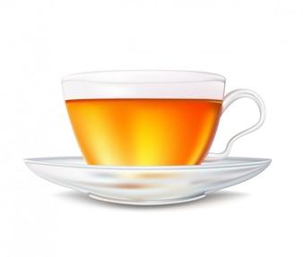 realista xícara de chá