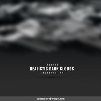 Realistic escuro fundo das nuvens