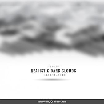 Realistic escuro nuvens pano de fundo