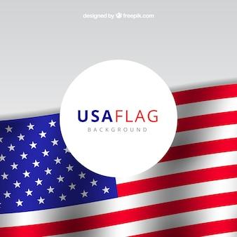 Realístico, fundo, unidas, estados, bandeira