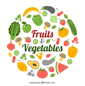 Recolha de alimentos saudáveis