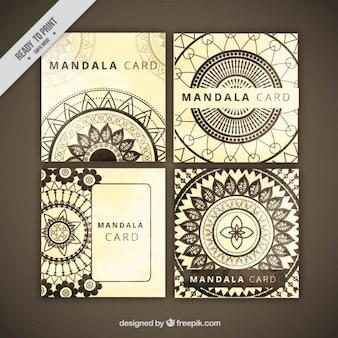 Recolha de cartão mandala