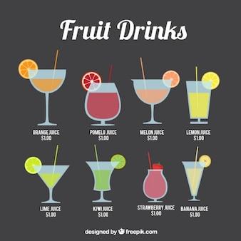 Recolha de suco de fruta