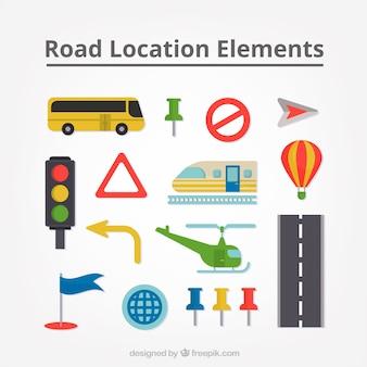 Recolha de transportes e sinais de trânsito
