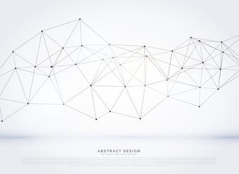 Rede digital vector background wireframe