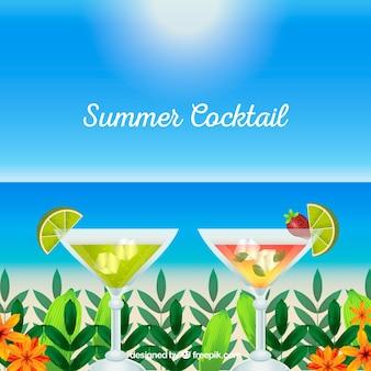 Refrescante cocktail de verão