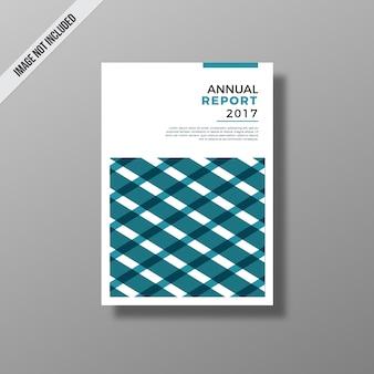 Relatório anual azul e branco