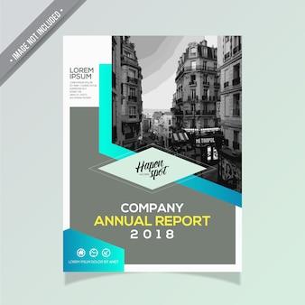 Relatório anual azul e cinza