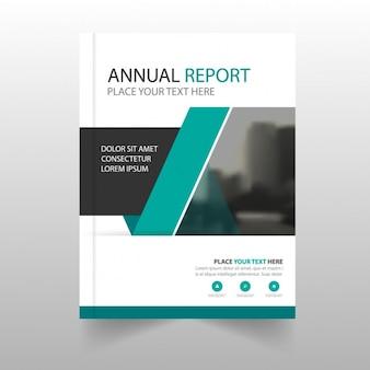 Relatório anual moderno com formas geométricas