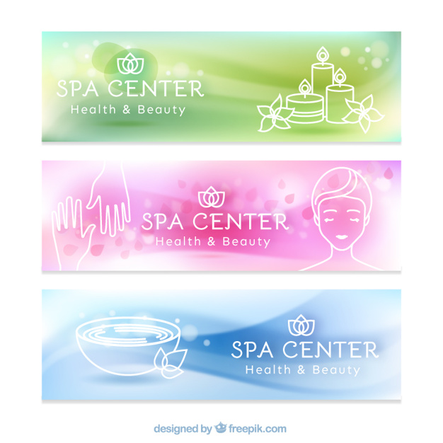 Relaxante spa banners