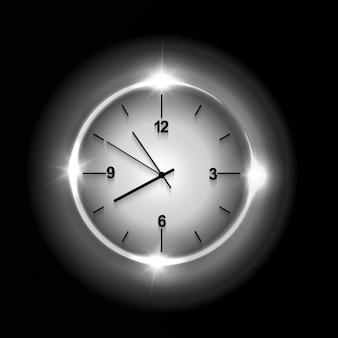 Relógio de parede brilhante