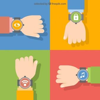 Relógio de pulso símbolos