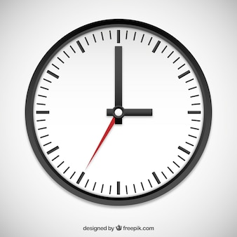Relógio preto e branco