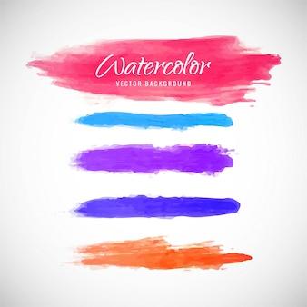 Respingo colorido da aguarela