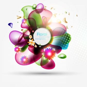Respingo colorido papel de parede gotas de água lens flare