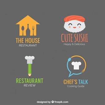 Restaurant logotipo bonito modelos de pacote