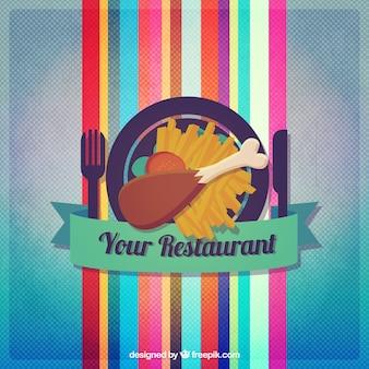 Restaurante colorido logotipo