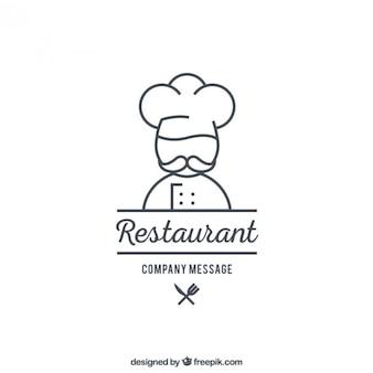 Restaurante modelo de logotipo
