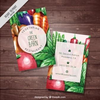 restaurante vegetariano panfleto