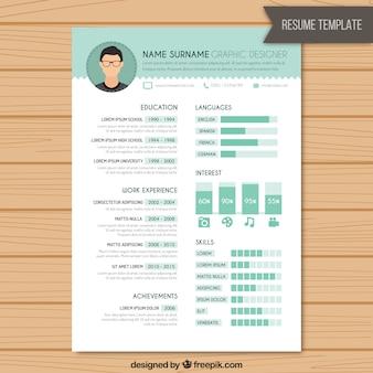 Resume template designer gráfico