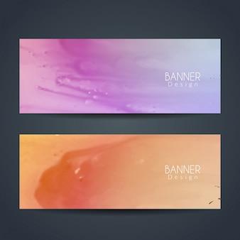 Resumo banners coloridos conjunto