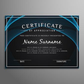 Resumo de fundo de certificado moderno