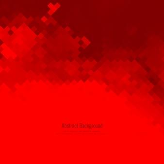 Resumo de fundo de padrão de mosaico de cor vermelha