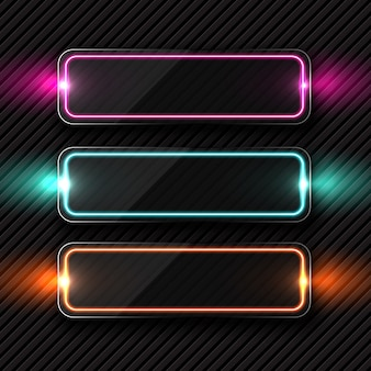 Retângulo com coleção de luzes