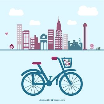 Retro bicicleta gráficos