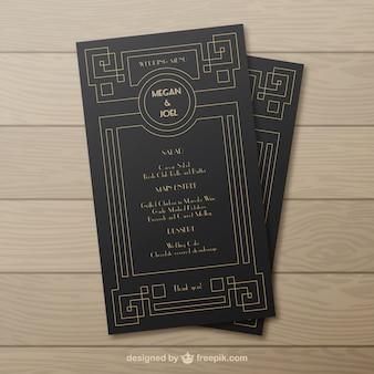Retro do convite do casamento