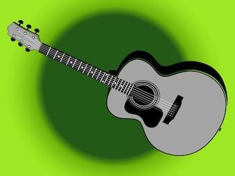 Retro guitarra ilustração instrumento musical