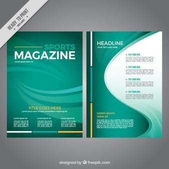 Revista esporte verde abstrato