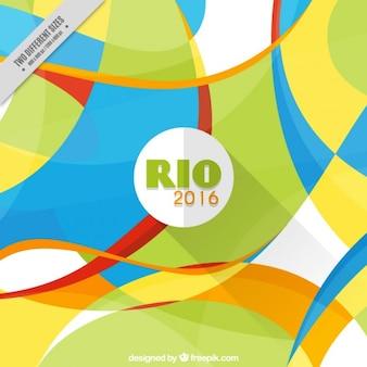 Rio 2016 fundo com formas abstratas em design plano