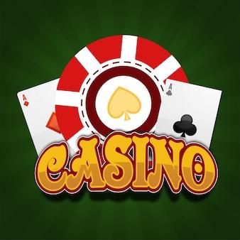 Risco roleta vermelha jogando cartão divertido