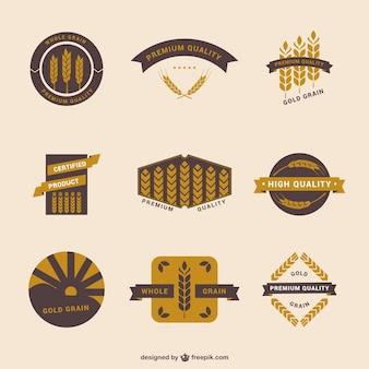 Rótulos de trigo do vintage conjunto