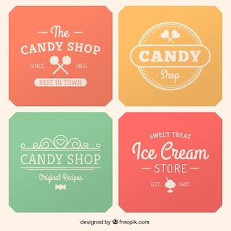 Rótulos loja de doces