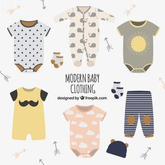 Roupas de bebê moderno