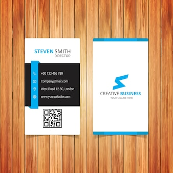 S Letter logo Minimal Cartão Corporativo