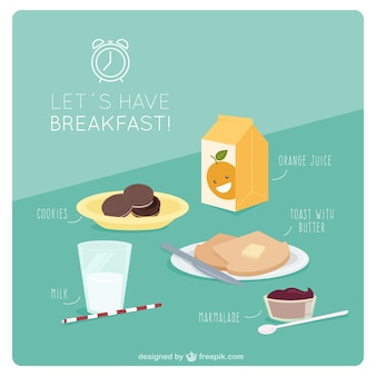 Saboroso café da manhã para começar o dia