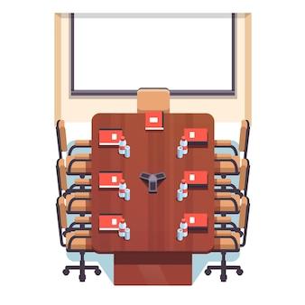Sala de aula de conferência vazia