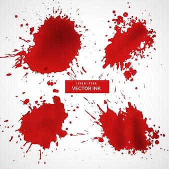 Salpicos de tinta vermelha