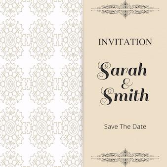 Salve a data com calendário em Brown color para casamento