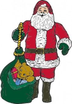 Santa e bolsa