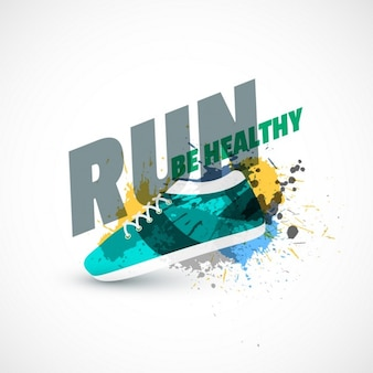 Sapatos de desporto fundo abstrato com respingo de tinta